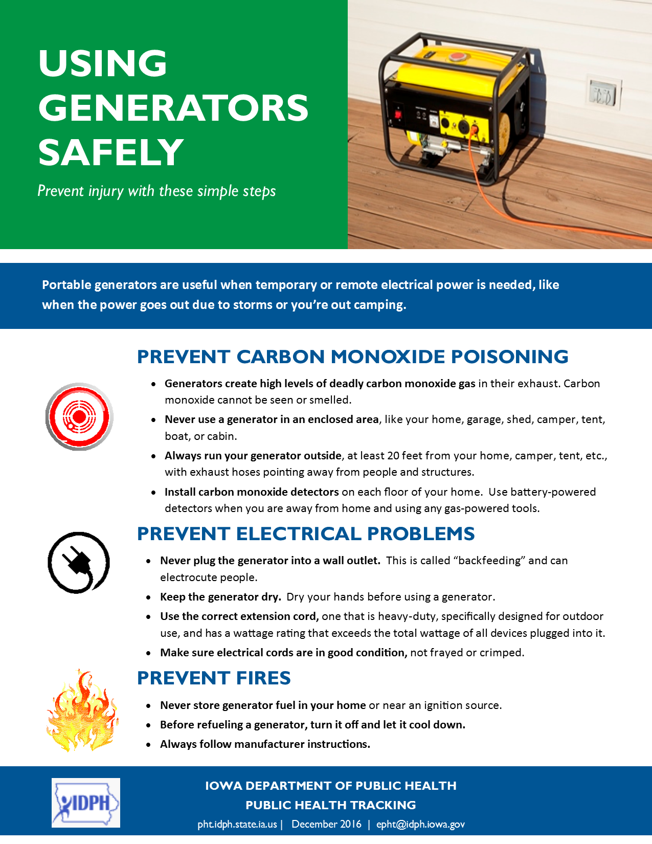 using generators safely
